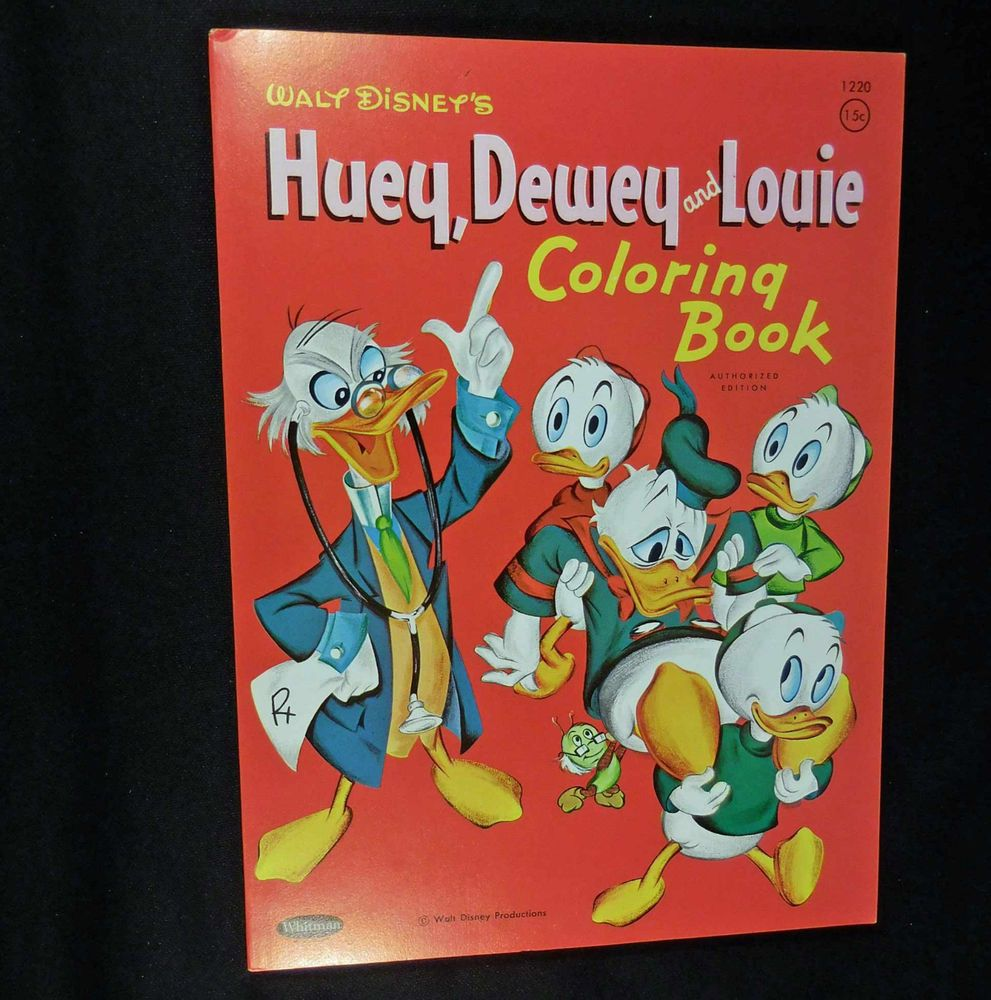 Vintage 1961 Whitman HUEY DEWEY And LOUIE Coloring Book Unused