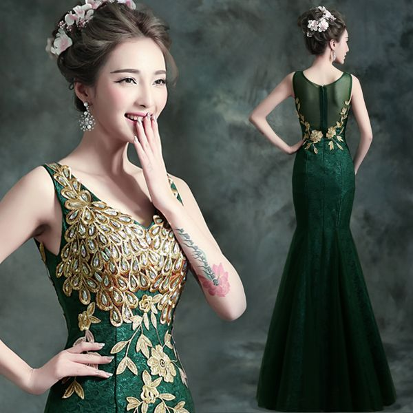 Green And Gold Dresses