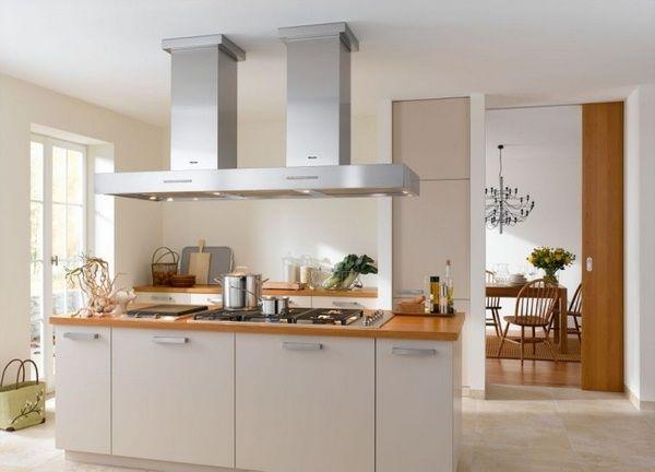 GroBartig Holzarbeitsplatten Küche Miele Haube Insel. Moderne KücheKleine ...