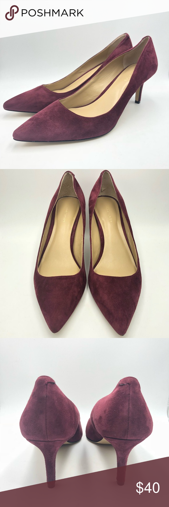 165bf45d74a Ann Taylor Eryn Suede Pumps Great pre owned condition. Berry color Size 8 Suede  Ann Taylor Shoes Heels