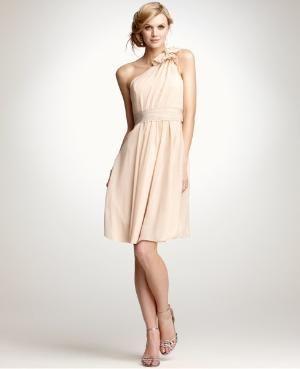 One-Shoulder Silk Georgette Bridesmaid Dress: Bridesmaid Dresses: ANN TAYLOR