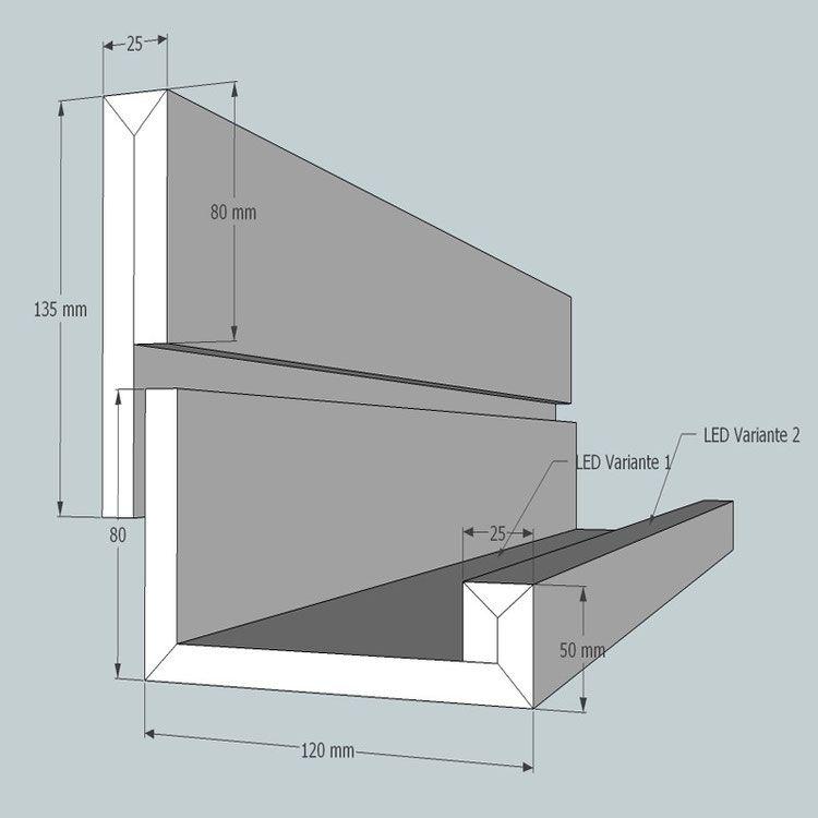 LICHTVOUTE BELLA / für Ausleuchtung der Decke und Raum mit LED ...