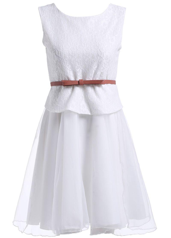 With Belt Organza Tank Dress 19.67