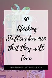 more than 50 Stocking Stuffers for men they will actually want #stockingstuffersformen