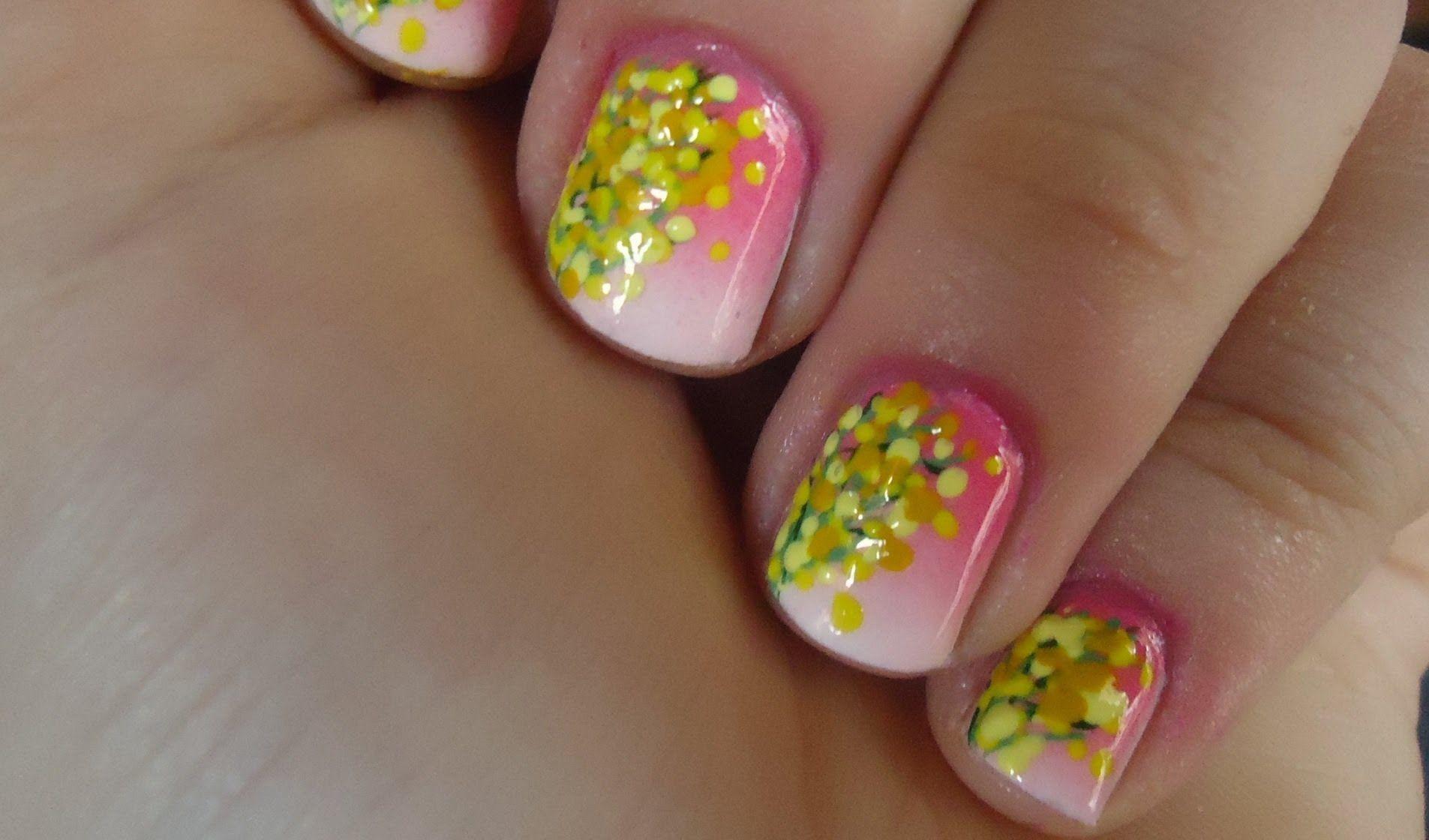 Nail art con le mimose - Fotogallery Donnaclick