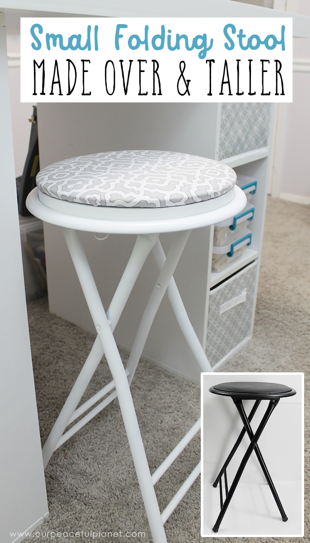 A Cheap Folding Stool Made Over And Higher Folding Stool Stool