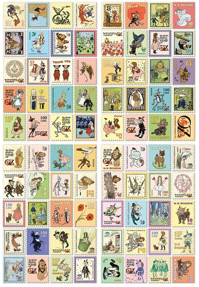 Stamp Sticker - Wizard Of Oz