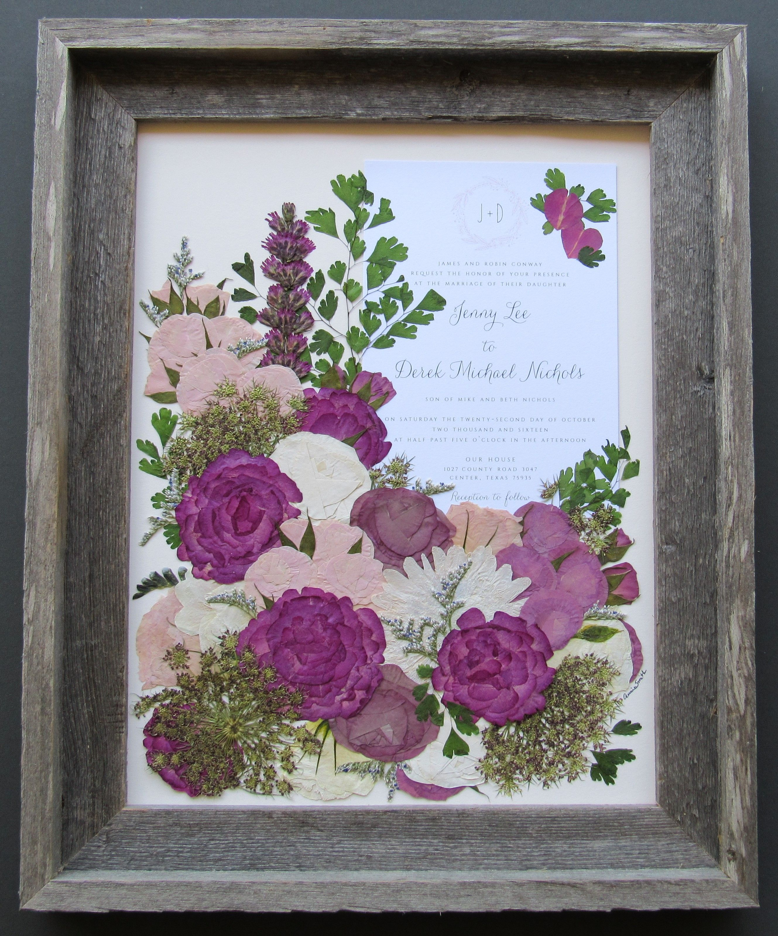 Pressed Garden  Floral Preservation  Preserved Wedding Bouquets is part of Wedding flowers bridal bouquets - Pressed Garden preserves wedding and special event bouquets, turning your memories into priceless pieces of heirloom art
