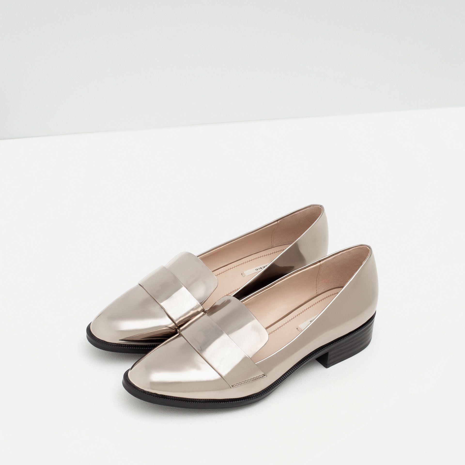 d5dfa69dc64 MOCASÍN LAMINADO - Zapatos y bolsos - Mujer - ÚLTIMA SEMANA