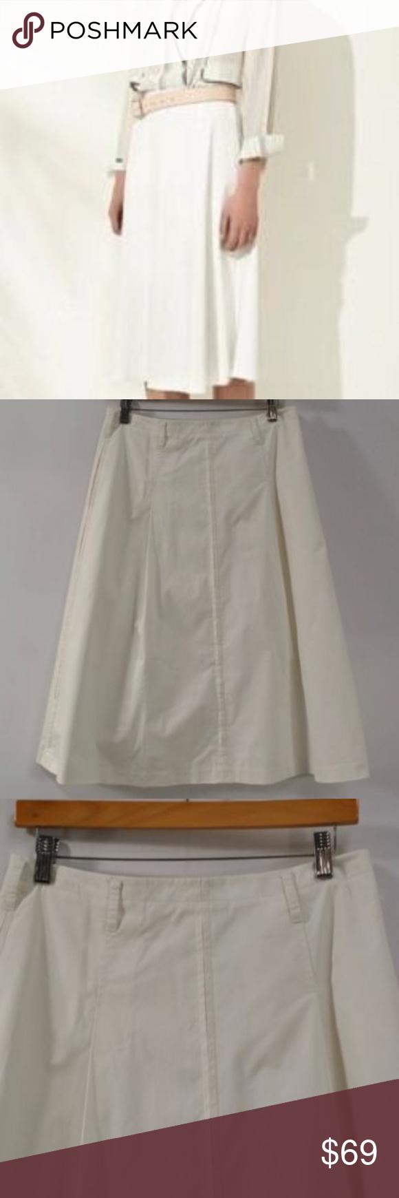 1a1a4a4193 3.1 Phillip Lim Umbrella Box Pleat Skirt ANT-White SIZE - 4 MAIN COLOR -