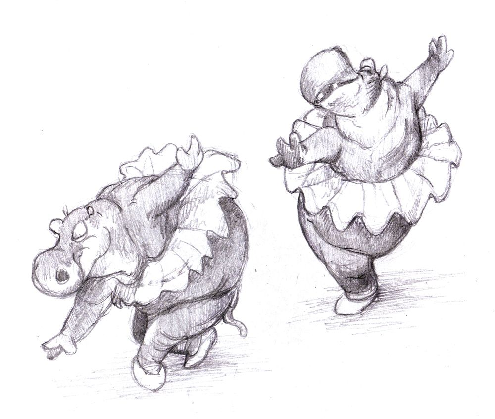 Fantasia hippos disney dessins disney hippopotame et - Dessin d hippopotame ...