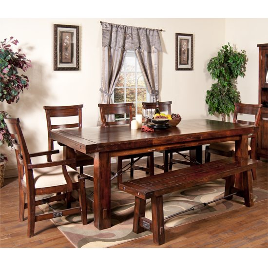 Sunny Designs Vineyard Medium Brown Extension Table Unique Dining Tables Rustic Kitchen Tables Dining Room Table Set