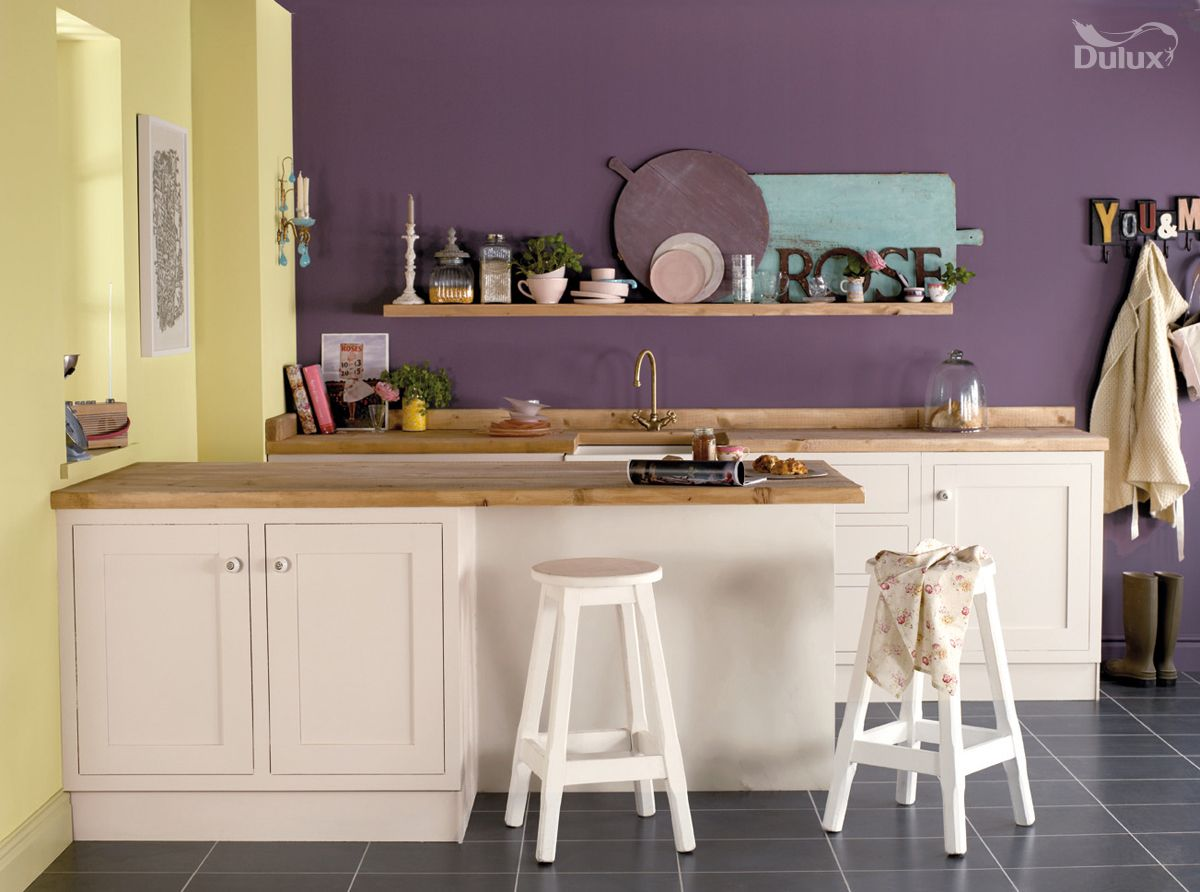Violet Has Great Depth Which Is Enlivened By Zesty Greens