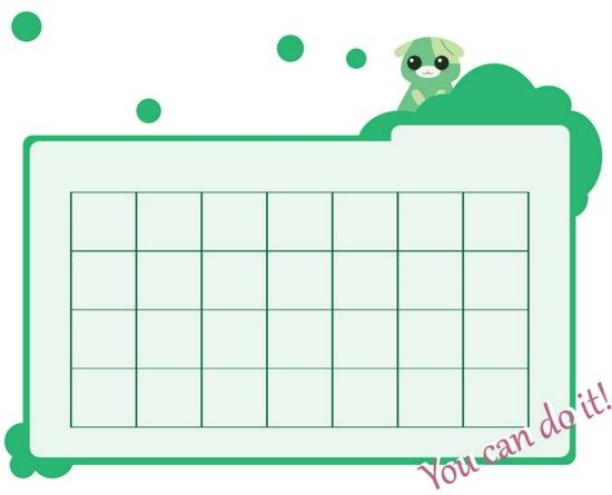 Cheery Green Blank Monthly Calendar Template  Bcalendars  Free