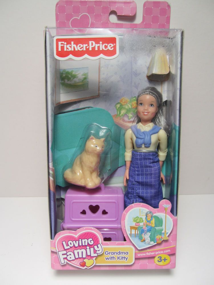 Fisher price loving family dollhouse furniture set laundry room 2002 grandma with kitty new in pkg fisher price loving family dollhouse dolls publicscrutiny Images