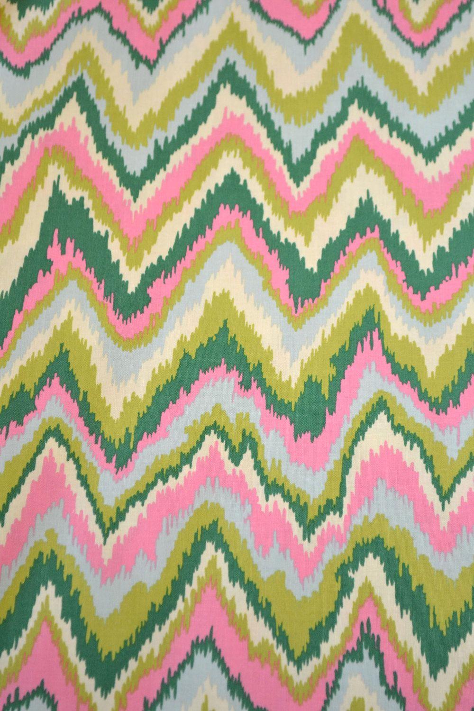 Alexander Henry Pink Green Zikat Fabric. $12.00, via Etsy.