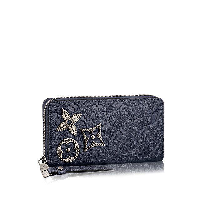 e2d457592fc Cadeau de Saint-Valentin de luxe pour Femme - Portefeuille Zippy Cuir  Monogram Empreinte Femme