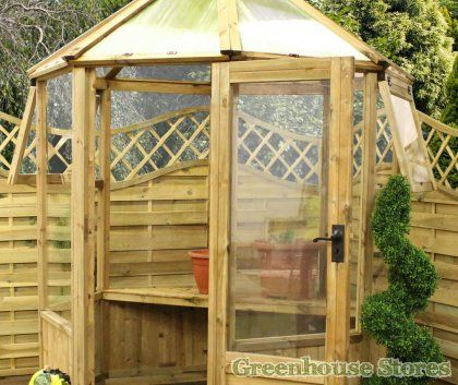 Cotswold 6x6 octagonal wooden greenhouse http www for Octagonal greenhouse plans