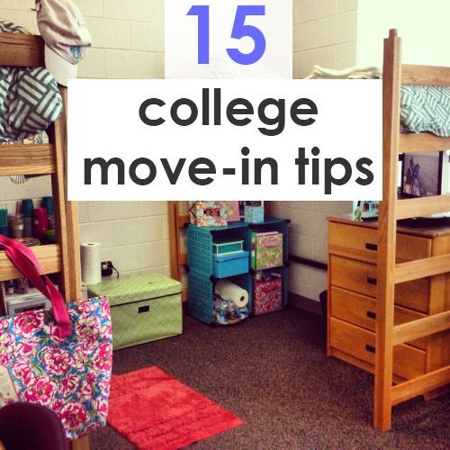 Love These Move In Day Tips.