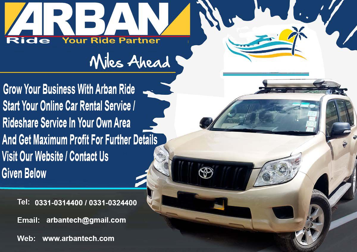 ARBAN RIDE A RIDESHARE PRODUCT OF ARBAN TECHNOLOGIES