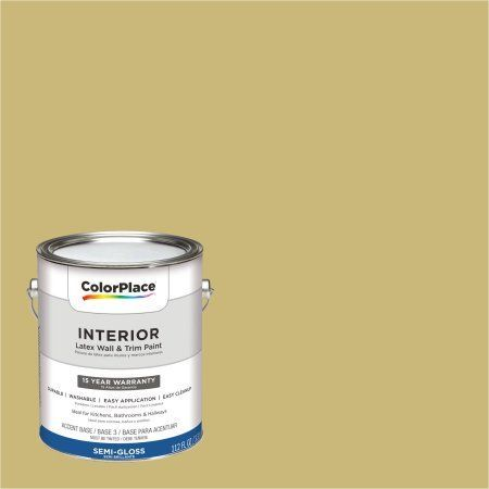 ColorPlace, Interior Paint, Golden Valley, #50YY 47/337, Semi-Gloss, 1 Gallon, Gold