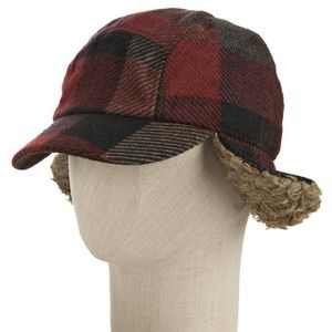 66789e0ab Grace Hats Red Plaid Tweed 'Up Flap' Hunting Cap | sewing hats ...