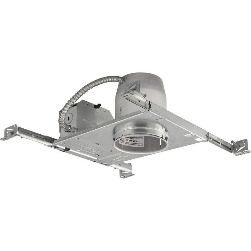 """Progress Lighting P830-TG 4"""" New Construction Recessed Housing - Non-IC Rated Galvanized Recessed Lights Recessed Housings"""