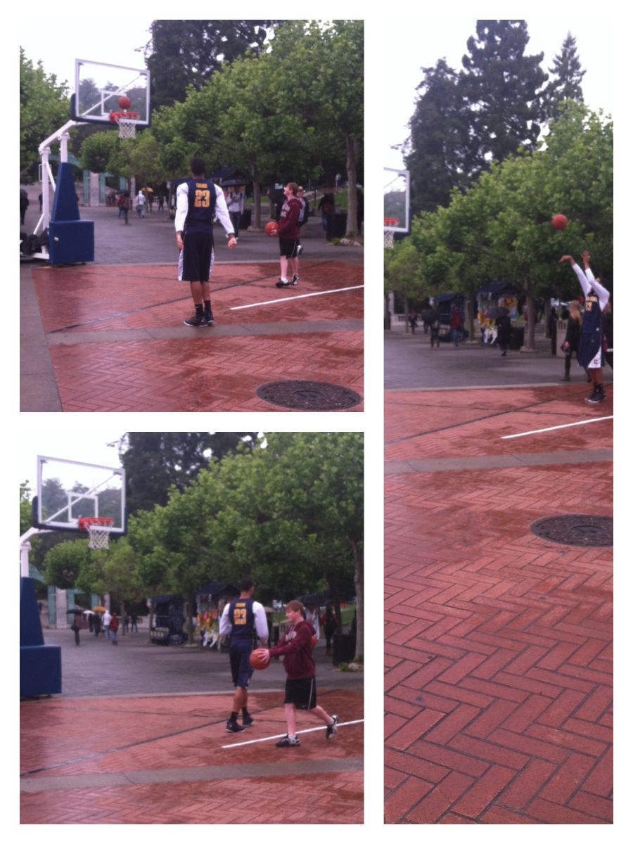 It rained 3's yesterday on Sproul Plaza! Allen Crabbe of the Cal Men's Basketball team challenged students, onlookers, and fans to a game of HORSE... Or as we like to play - CAL!