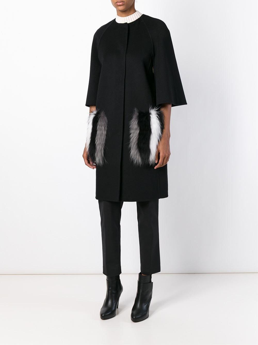 cbc55a0a6ce9 Fendi fur pockets coat