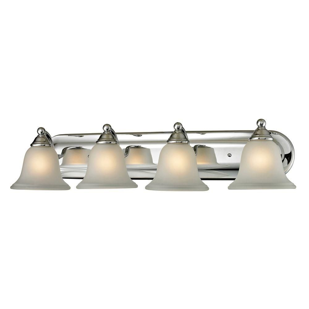 Titan lighting shelburne light chrome wall mount bath bar light