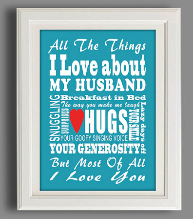 "valentine's day gifts for your husband: customizable ""all the, Ideas"
