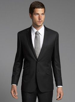 YES this kind of dark charcoal suit!! with an ivory vest and tie ...