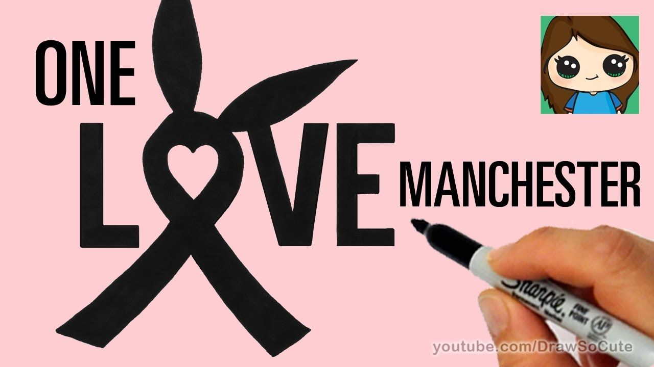 How to Draw Ariana Grande\'s One Love Manchester Ribbon Symbol | DRAW ...
