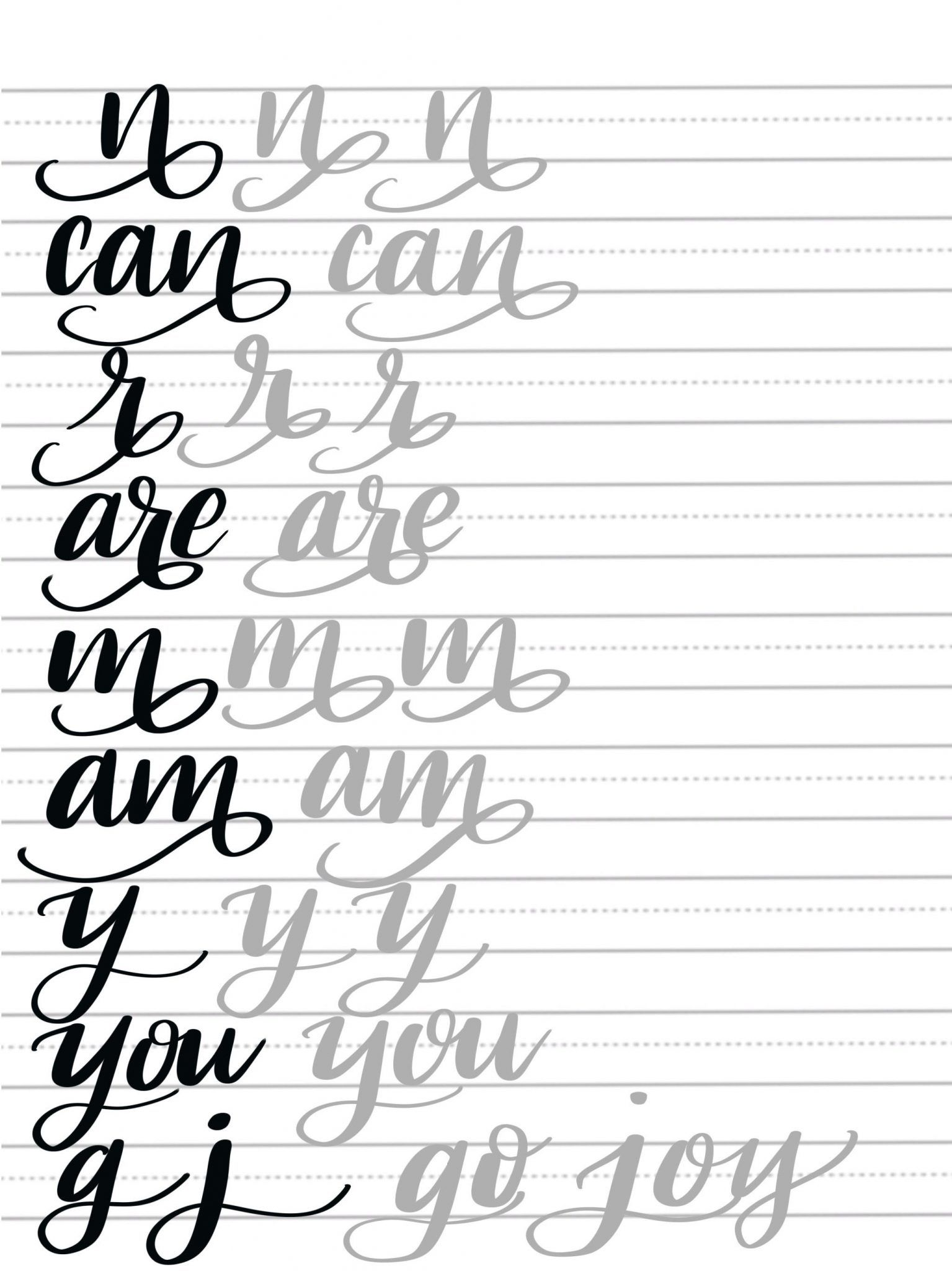 Hand Lettering Flourish Tutorial Amp Free Printable