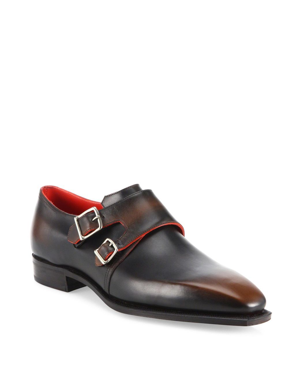 CORTHAY Arca Leather Monk-Strap Dress Shoes iFKOH9NhG
