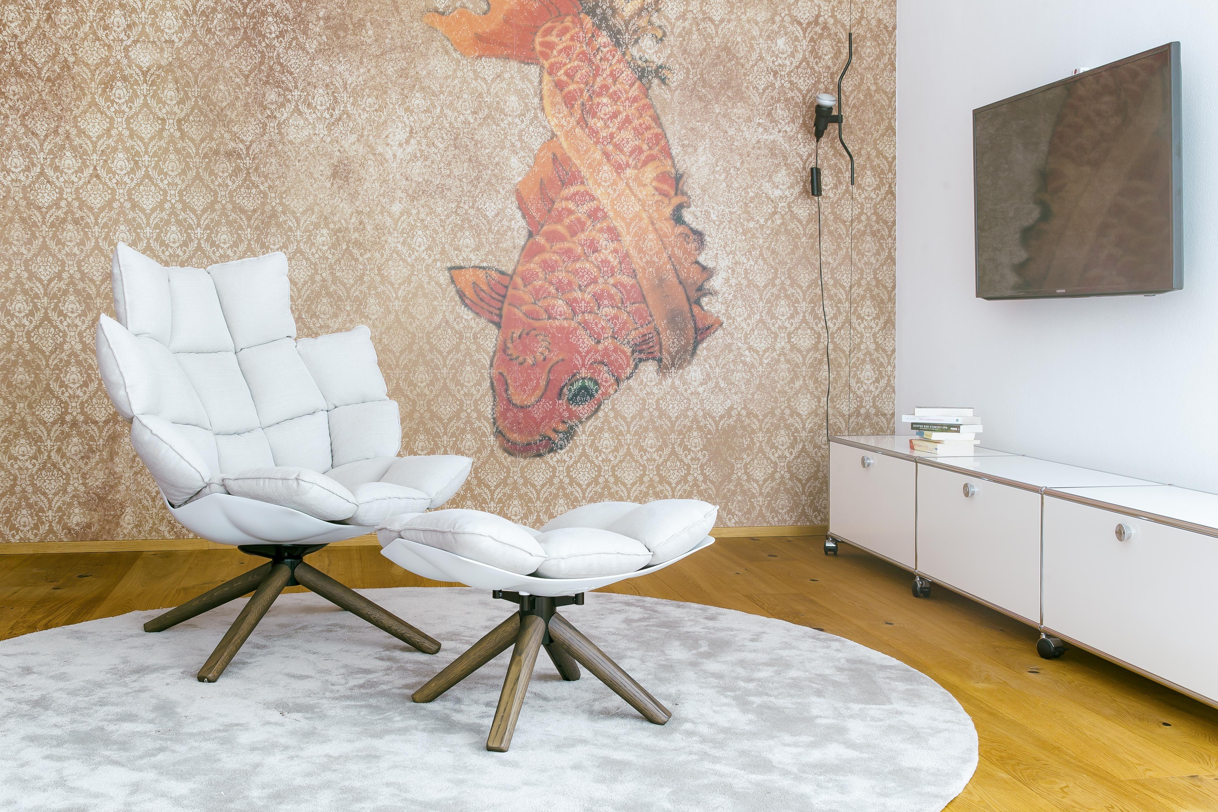 designer sessel husk indoor outdoor, einzigartige tapeten von wall & deco. #koi #tapete #walldeco, Möbel ideen