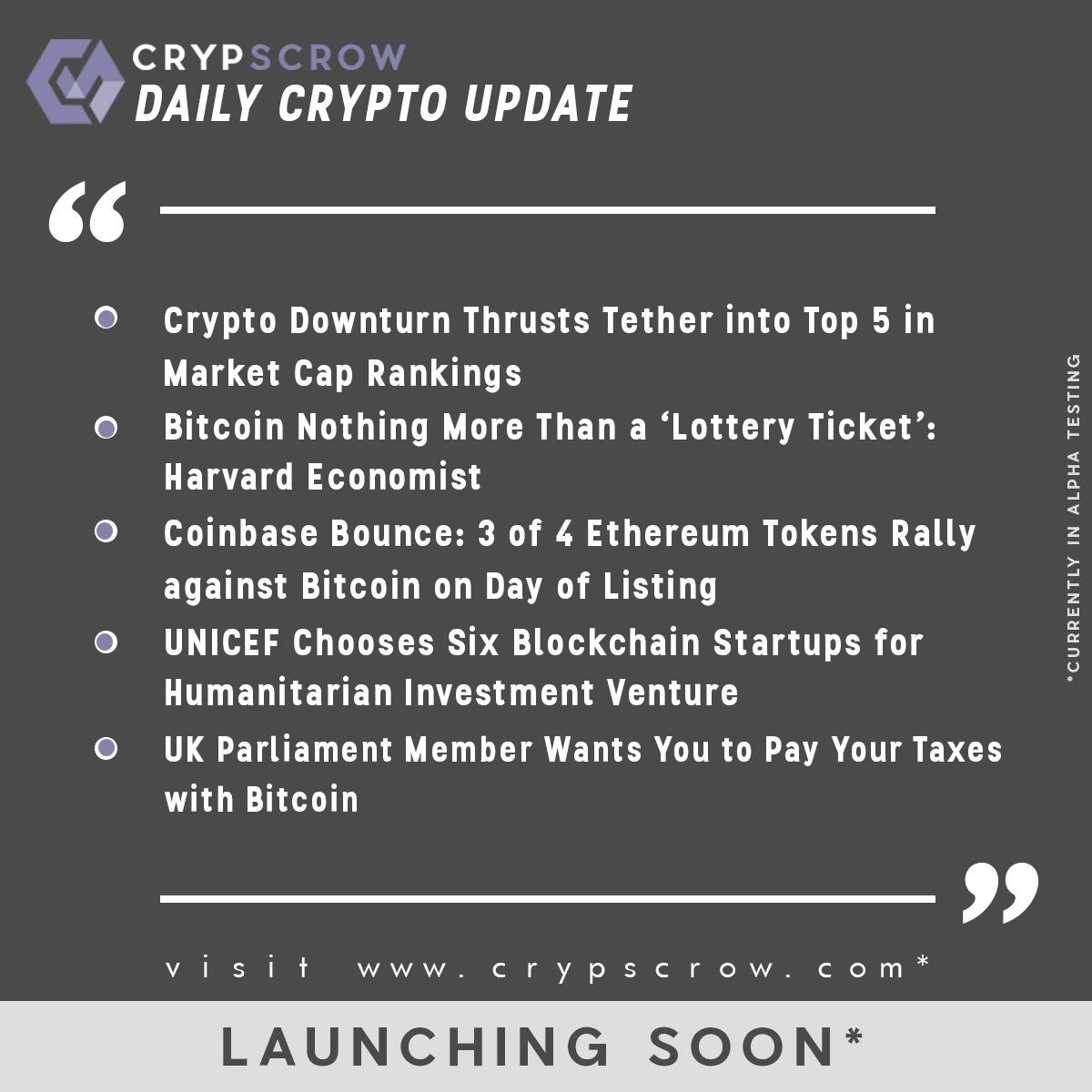 dailycryptoupdate cryptonews crypscrow crypto