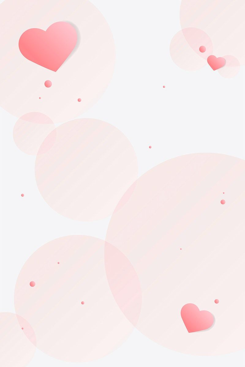 Vector Heart Bubble Pattern Pink Background Free Image By Rawpixel Com Jingpixar Valentine Background Free Illustrations Pink Background