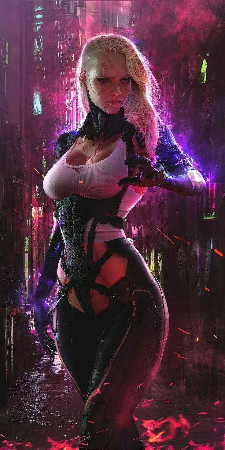 Cyberpunk 2077 Squidward : cyberpunk, squidward, Cyberpunk, 2077,, Girl,