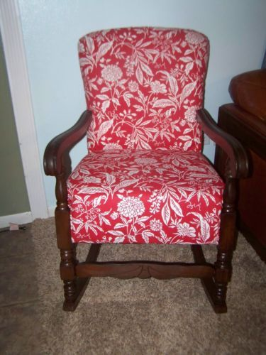 Vintage Upholstered Rocking Chair Upholstered Rocking Chairs Chair Rocking Chair