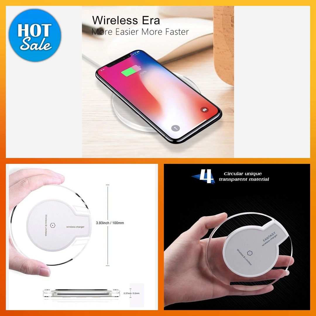 Soyez Le Premier A L Adopter Chargeur Crystal Ultra Fin A Induction Chargeur Induction Magnetique Cable Crysta Wireless Transparent Electronic Products