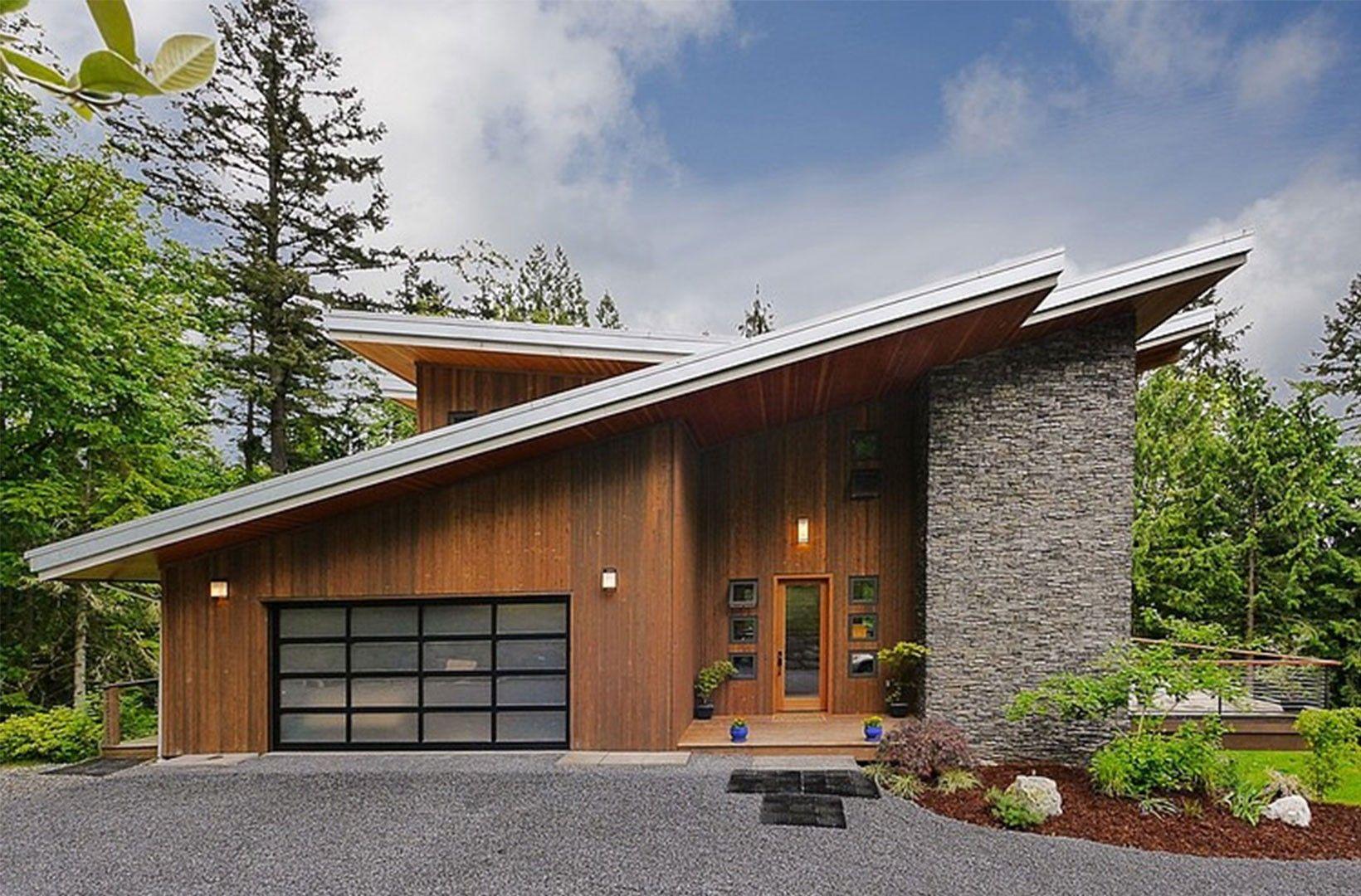 Single Slope Roof House Plans Elegant High Pitched Roof House Plans Elegant Modern Cabin Design Modern Modern Cottage Facade House House Exterior