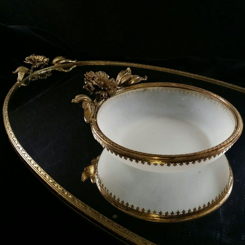 Filigree piece vanity set vanity mirror vanity tray filigree dish