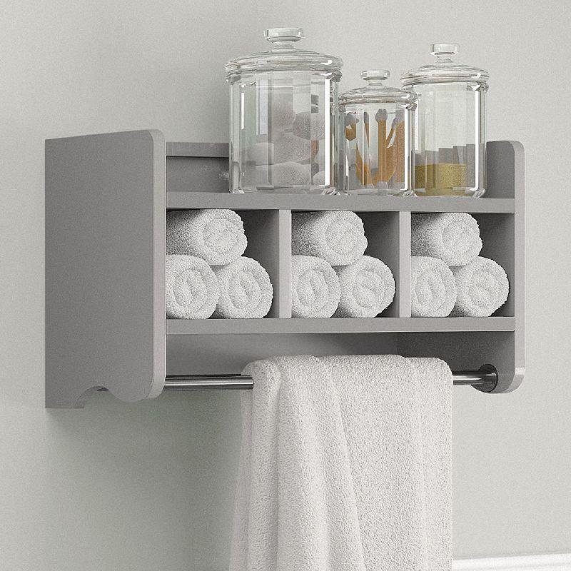 Bolton Bathroom Storage Cubby Towel Bar Wall Shelf