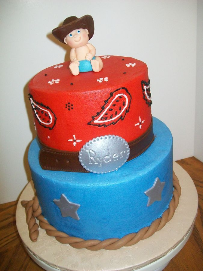 Little Cowboy Baby Shower Theme Part - 32: Little Cowboy Baby Shower Cake