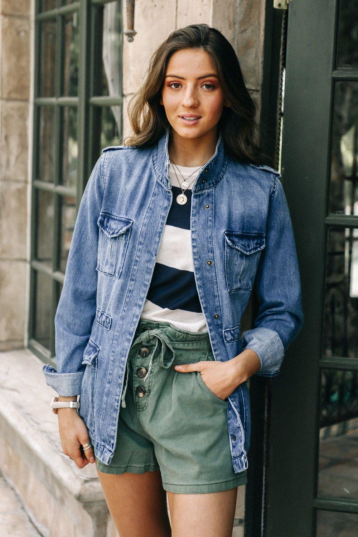 Bohme Cargo Denim Jacket Oversized Jean Jacket Outfit Jean Jacket Outfits Summer Jean Jacket Outfits [ 1500 x 1000 Pixel ]