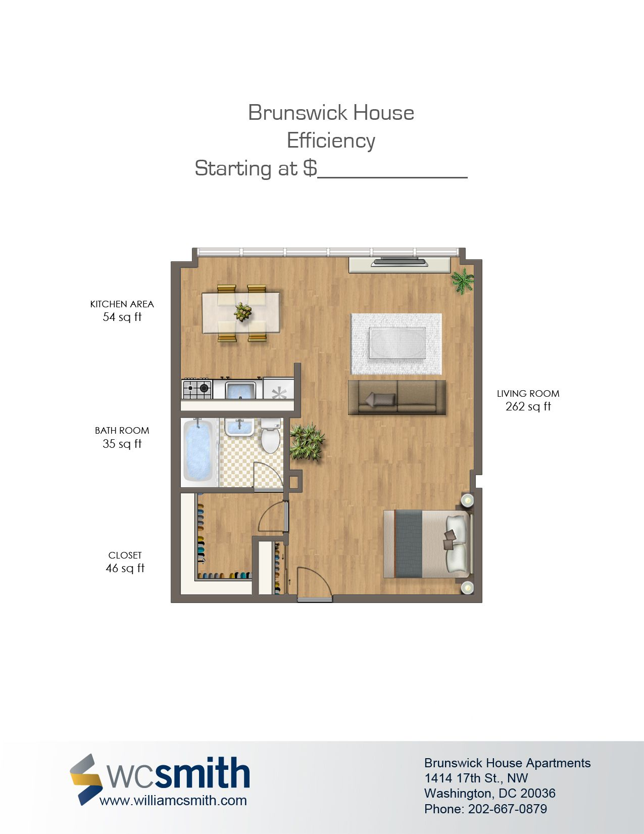 Brunswick House Apartments In Washington Dc Wc Smith Home Addition Plans Brunswick House Studio Floor Plans