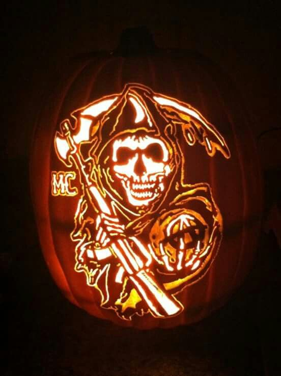 Reaper Soa Pumpkin Pumpkin Carving Halloween Pumpkins