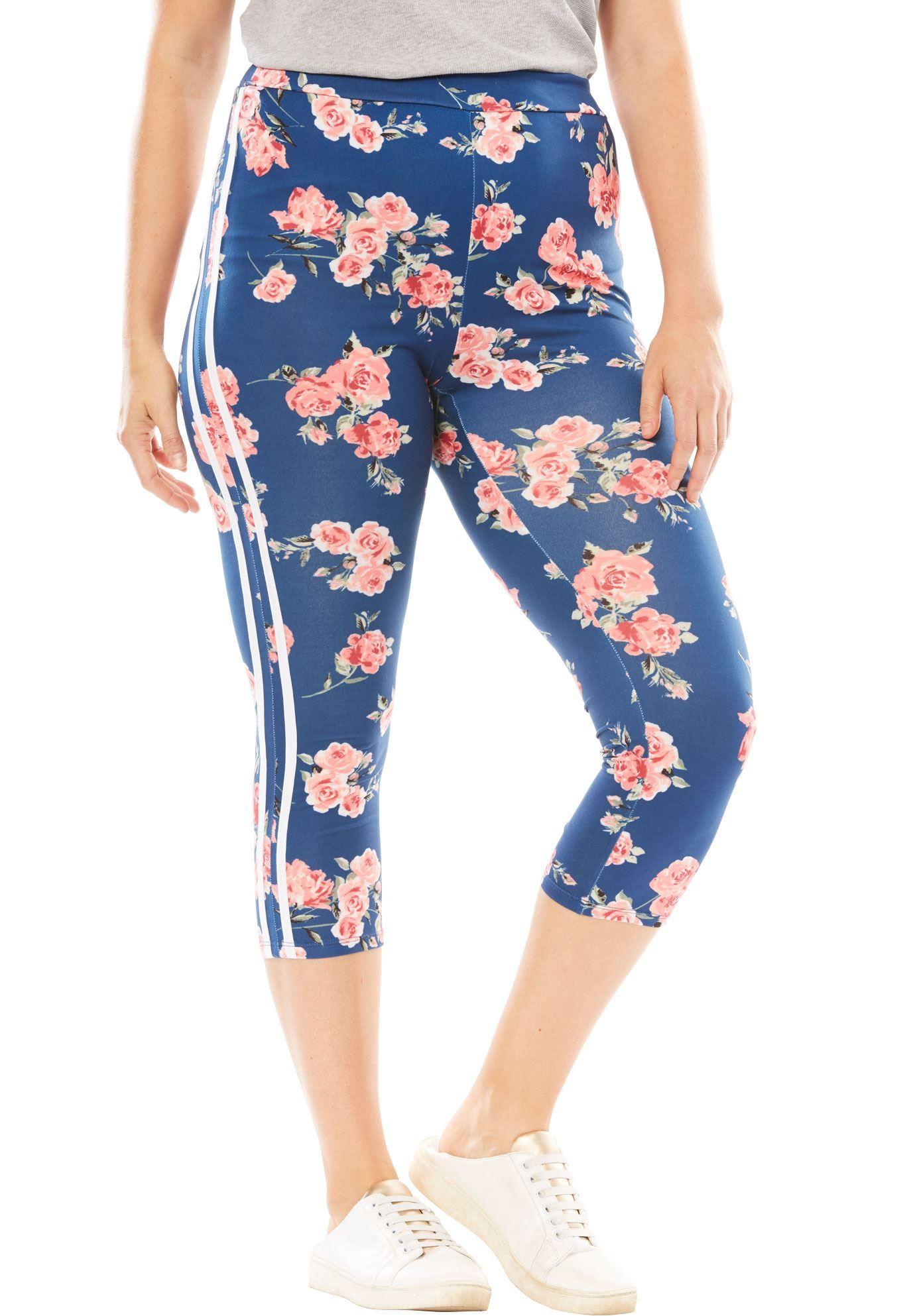 b87d6c8d1e3 Side-Stripe Cozy Capri - Women s Plus Size Clothing