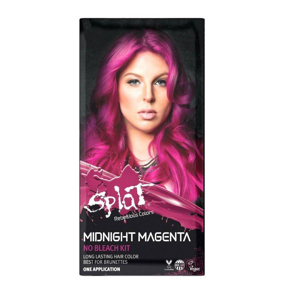 Splat Midnight Hair Color Magenta 6 0oz In 2020 Splat Midnight Hair Color Midnight Hair Lasting Hair Color